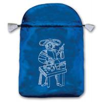 Bolsa Tarot Seda Azul 23 x 16 cm (Motivo Marsella) *