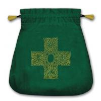 Bolsa Tarot Terciopelo Verde 20,5 x 20 cm (Motivo Cruz...