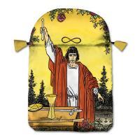 Bolsa Tarot Seda Amarilla 23 x 16 cm (Motivo Universal)