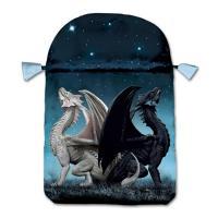 Bolsa Tarot Seda Celeste 23 x 16 cm (Motivo Dragones)