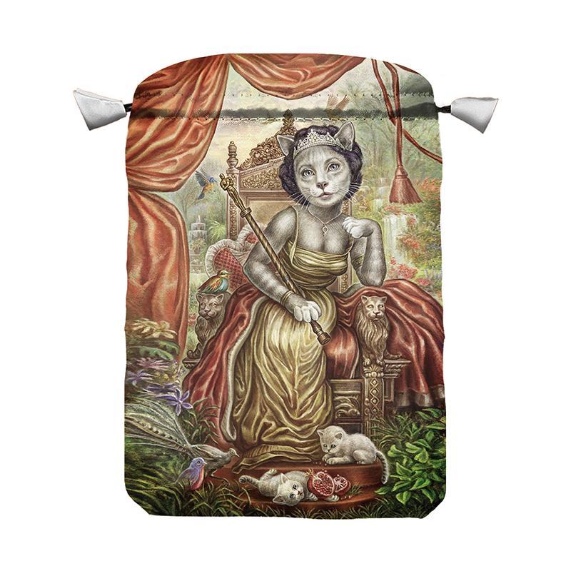 Bolsa Tarot Seda Roja 23 x 16 cm (Motivo CatTarot)