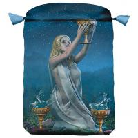 Bolsa Tarot Seda Azul 23 x 16 cm (Motivo Viceversa)