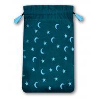 Bolsa Tarot Mini Terciopelo Azul 13,5 x 8,5 cm (Motivo Estrellas y...