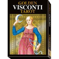 Tarot Golden Visconti Tarot - Pietro Alligo (SP, EN, IT, DE, FR) (22 Arcanos) (Dorado) (Gigante) (SCA)
