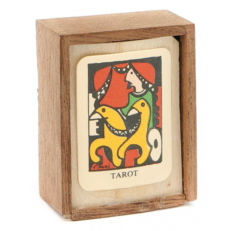 Tarot coleccion 22 Arcanos (22 Cartas + 4 extras) (Mini) (Artesanal) (Cajita de madera) 12/16