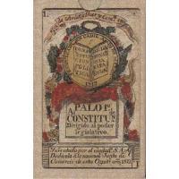 Cartas Baraja española Constitucion de Cadiz siglo XIX - 1822